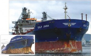 Toxic ships set off alarm