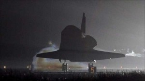 Endeavour space shuttle makes last touch-down
