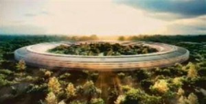 "Apple's Jobs shows off ""spaceship"" headquarters plan"