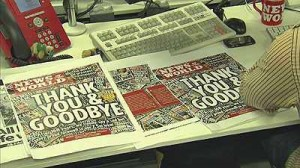 Staff prepare the final ever News Of The World edition