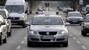 Driverless car navigates streets