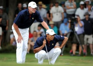 US fight back to lead Presidents Cup golf