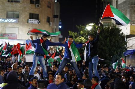 Palestinians win de facto U.N. recognition of sovereign state