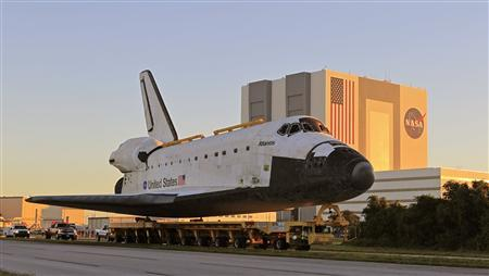 Last NASA space shuttle becomes museum piece