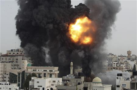 Israel hits Hamas government buildings, reservists mobilized