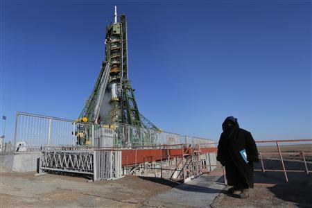 Three-nation crew blasts off for space station