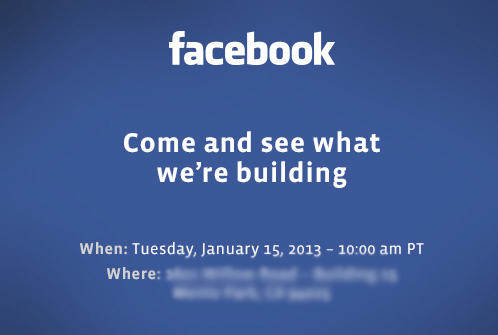 Facebook to Hold Press Event Jan. 15