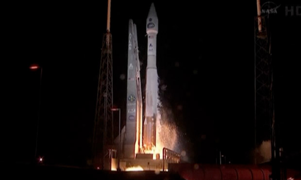 Rocket blasts off with new NASA communications satellite