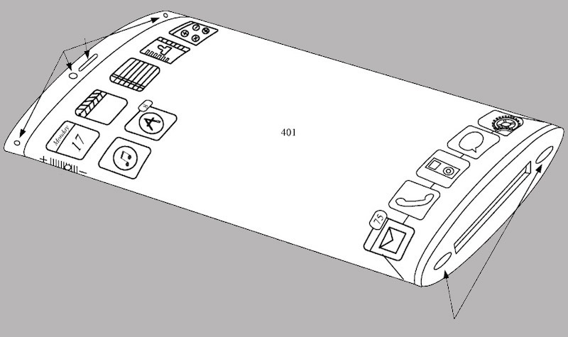 Apple Patent Shows Sleek iPhone With Wraparound Display