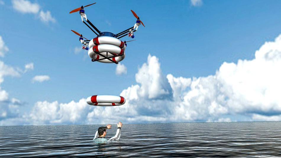Drones Could Rescue Drowning Victims