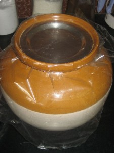 Covered and sealed jar