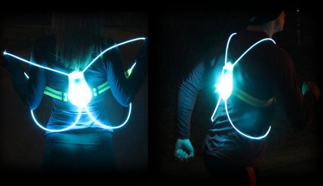 Fiber Optic Safety Vest Makes Night Running Safer