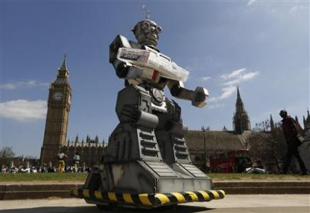 "Campaigners call for ban on ""killer robots"""