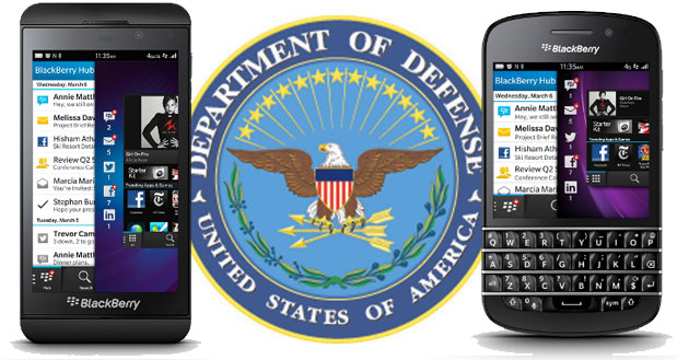DOD US approves BlackBerry 10 smartphones and PlayBook tablets for use on its networks