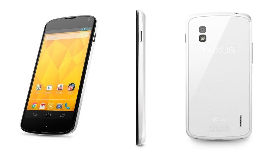 LG Reveals Google Nexus 4 in White