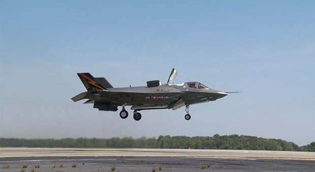 F-35B performs first vertical takeoff