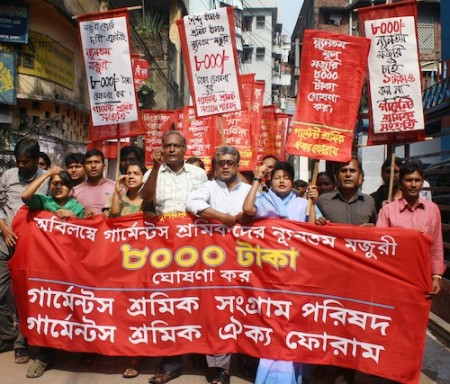 Bangladesh seeks 77% rise in wage for garment workers