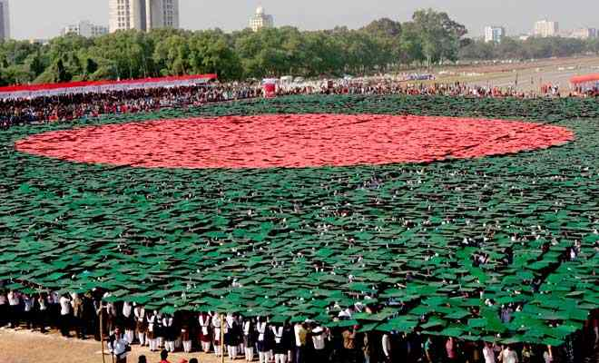 Largest human national flag: Bangladesh breaks Guinness World Records' record