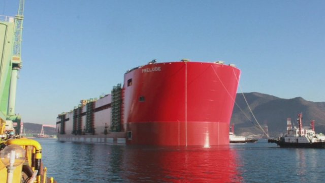 Samsung floats world's largest vessel
