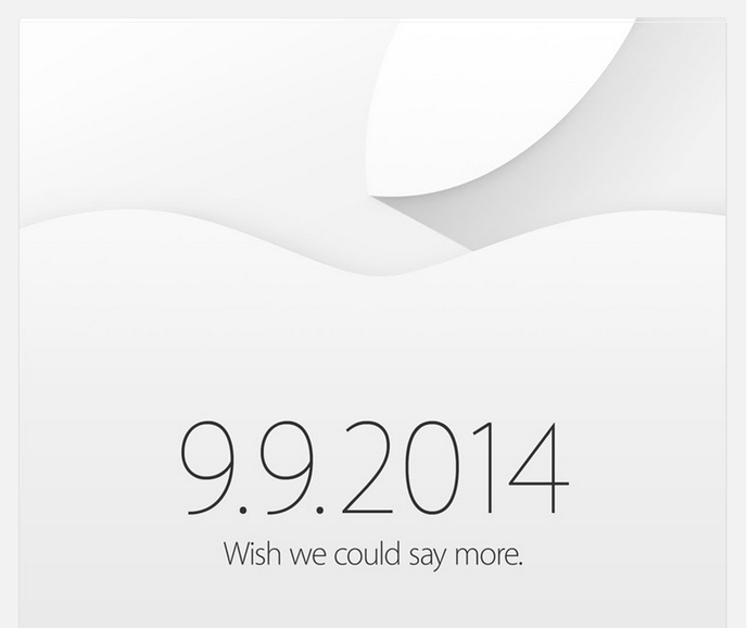 Apple iPhone 6 event officially set for Sept. 9