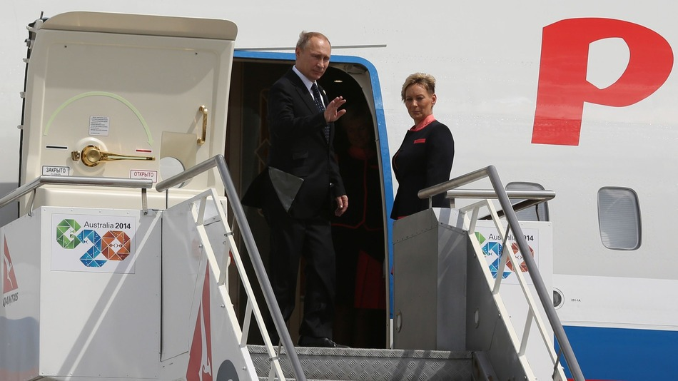 Russian President Vladimir Putin departs Brisbane, after the G20 Summit.