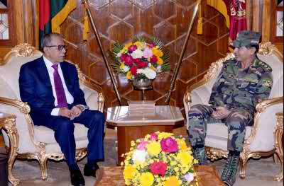Army chief calls on President