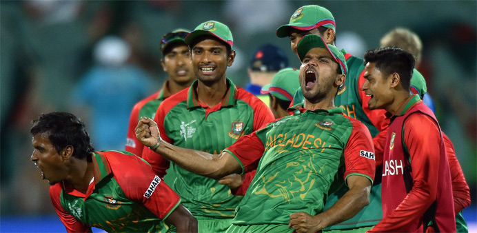 Bangladesh knock England out of World Cup to reach quarter-finals
