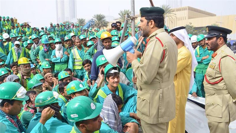 Construction workers stage rare protest in Dubai
