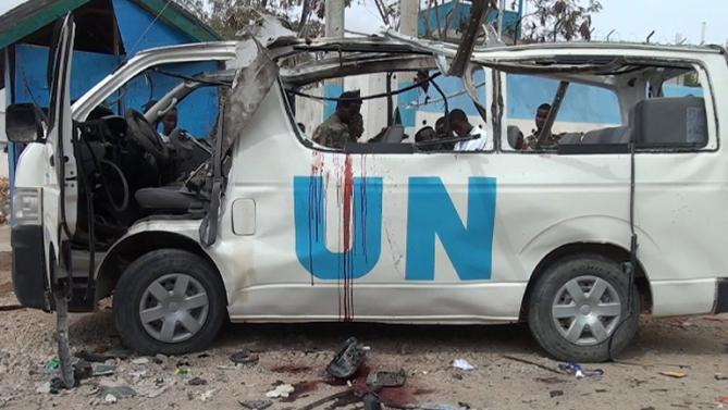 Bomb blast on UN bus kills at least six in Somalia