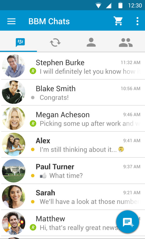 BBM for Android gets Android Material Design Update