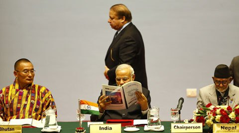 No talks: Modi, Sharif wave & smile