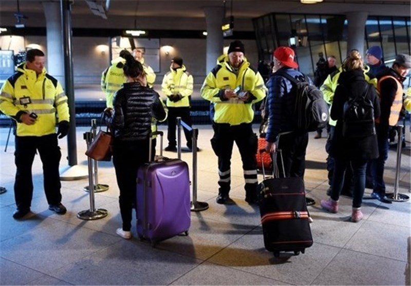 Sweden's Stockholm-Skavsta Airport were evacuated Sunday after traces of explosive powder were detected on a piece of luggage