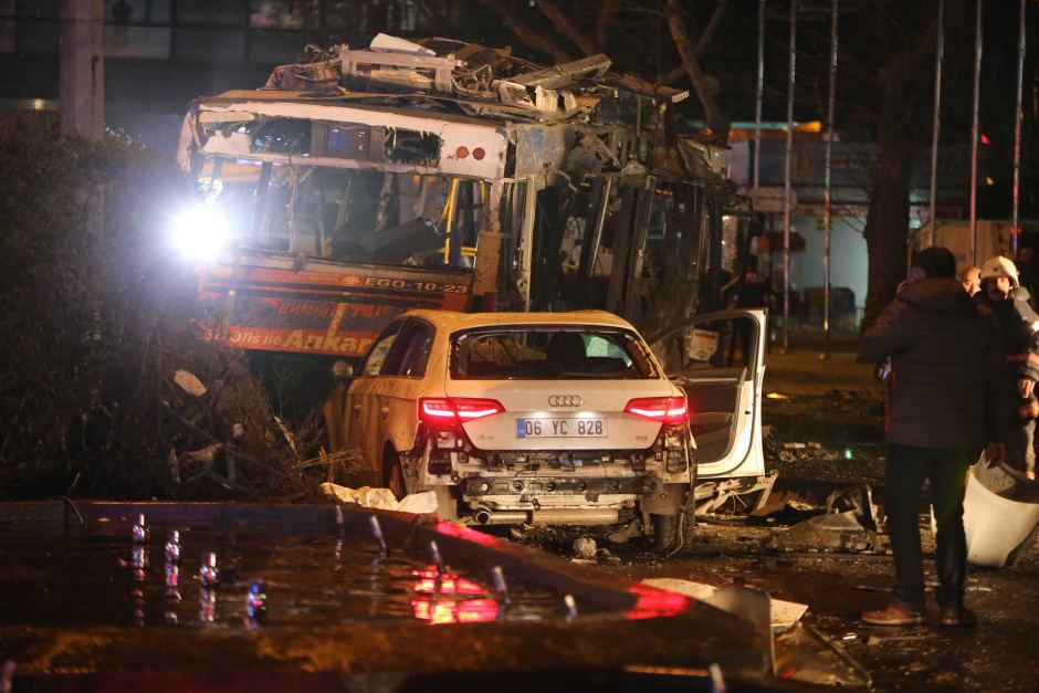 Suicide car bombing kills 34 in central Ankara