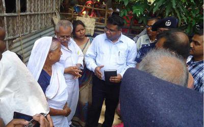 Two Indian diplomats visit priest killing spot in Jhenaidah
