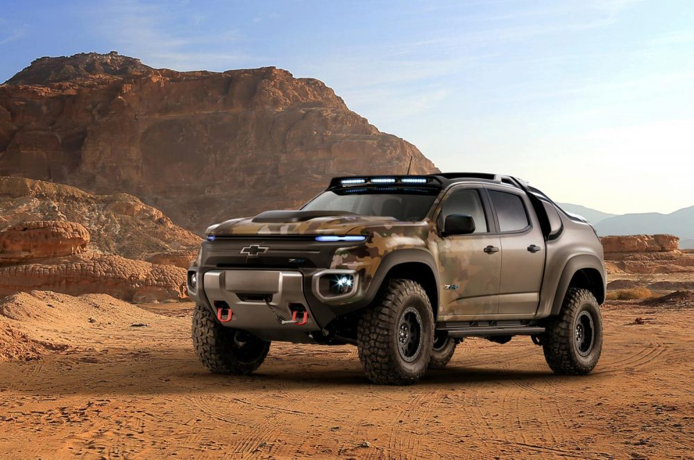 US Army to evaluate GM's fuel-cell powered Chevrolet Colorado ZH2
