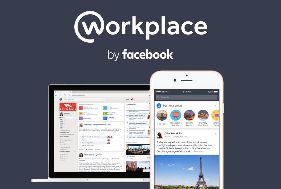 Facebook at Work comes out of beta and launches as Workplace