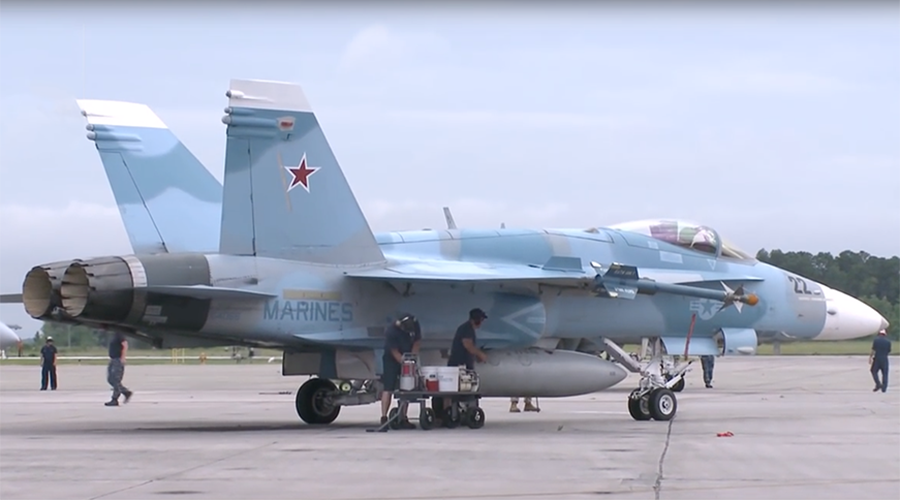Pics of US jets painted in Russian colors spark Syria false flag conspiracy