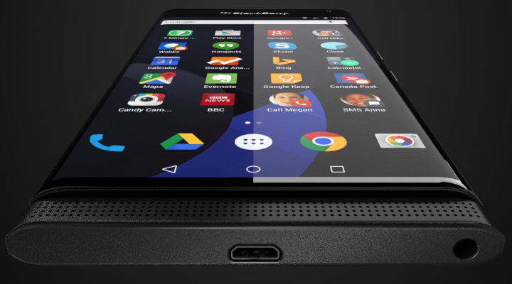 This probably BlackBerry's First Android Phone?
